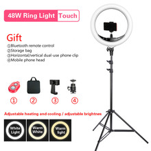 """BEIYANG 240C 14"""" Dimmable Photography light Led Ring Light 3 color 3200 5600K 240 led Ring Lamp For Camera Phone Photo Studio"""