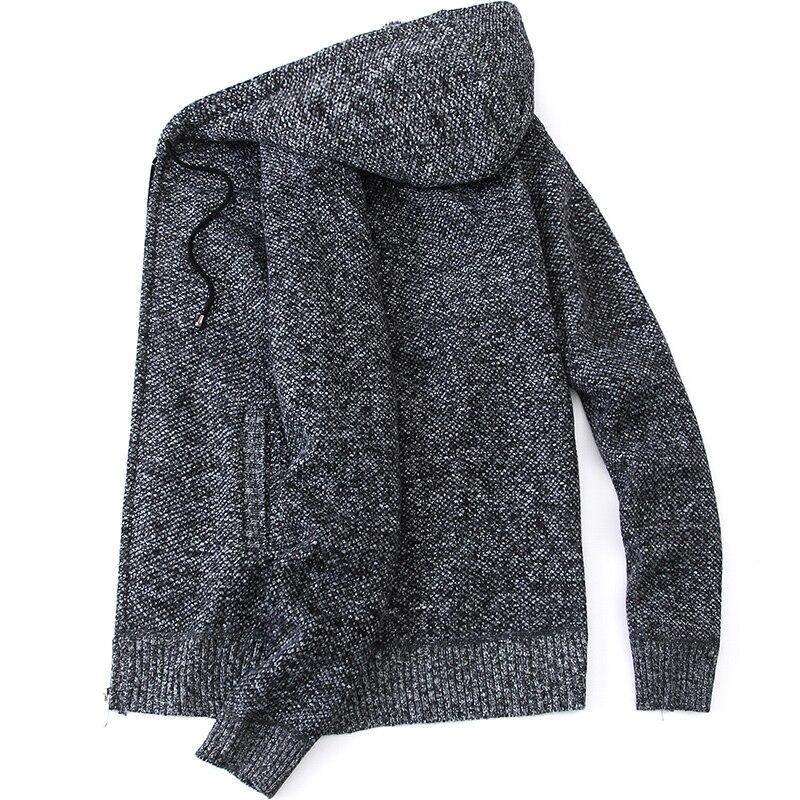 2020 Autumn Winter Men Fleece Sweater Men Warm Cardigan Sweatercoat Male Casual Knit Outwear Hooded Sweater Man Hoody Sweatshirt