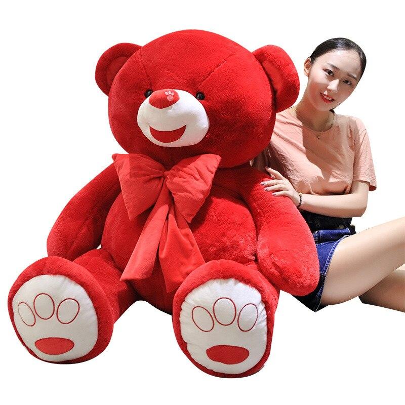 60 große Größe Fett Teddybär Plüsch Spielzeug Rot Farbe Teddybär Plüsch Puppe Große Geschenk Für Liebhaber Hohe qualität Big Bear Geschenk