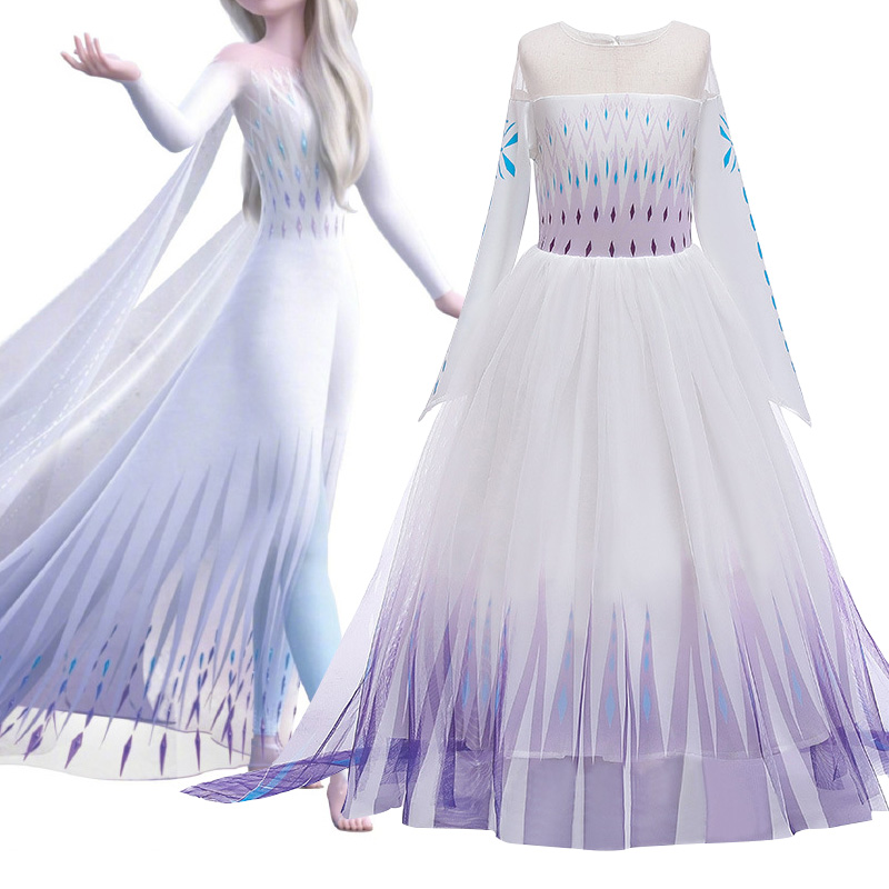 Baby Girl Dress Frozen Anna Elsa (Anna Elsa) 2 New Princess Dress Girl Dress Halloween Cosplay Clothes Children Show Dress Dress