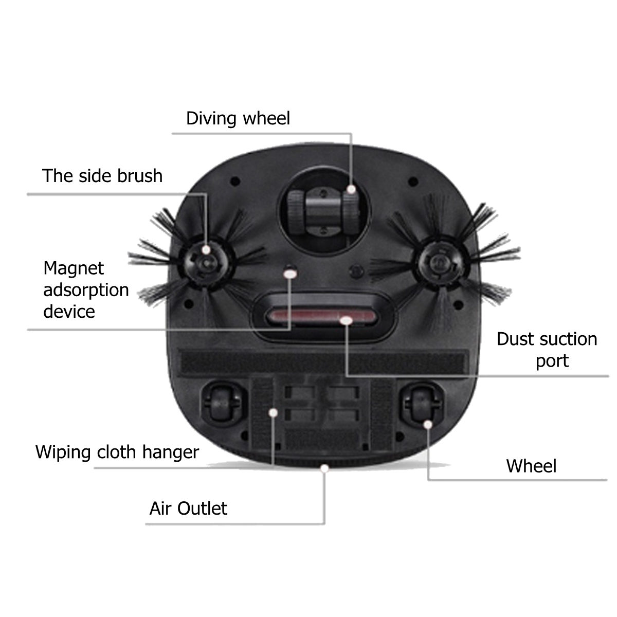 6 in 1 Rechargeable Robot Vacuum Cleaner Smart Automatic Dust Control for Household Cleaning