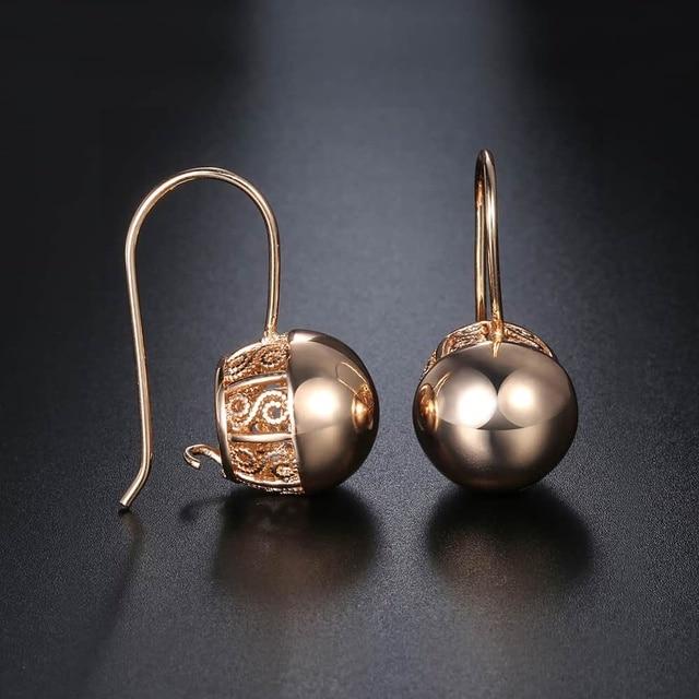 Hot Cut Out Ball Earrings For Women Girls 585 Rose Gold Woman Zircon Dangle Earrings Wedding.jpg 640x640 - Hot Cut Out Ball Earrings For Women Girls 585 Rose Gold Woman Zircon Dangle Earrings  Wedding Party Exquisite Jewelry GE66