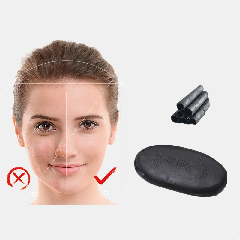Active Black Bamboo Cleanser Removal Acne Soap Skin Care Whitenning Honey Nourishing Soap Anti-facial Tourmaline Antiacne Soap