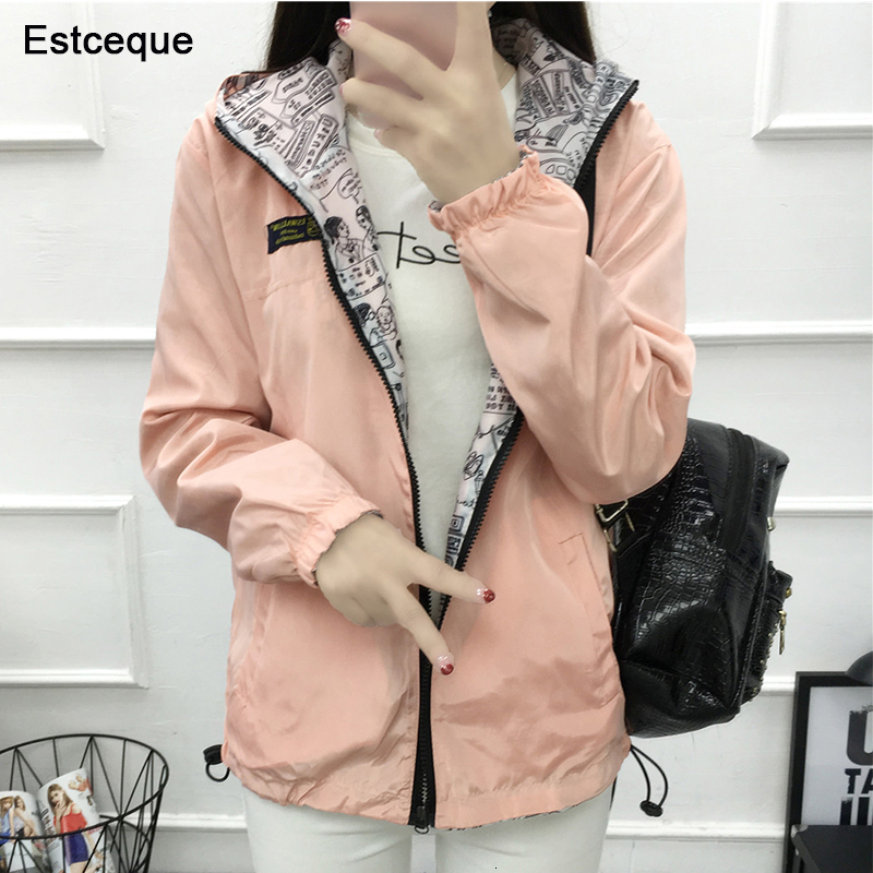 Women's   Jackets   Drag on both sides Hooded   Basic     Jacket   Casual Slim Windjack Women's Exit Women's   Jacket   Long Mouths