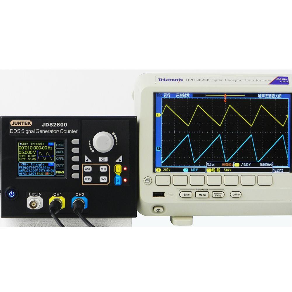 Litake JDS2800-15M 15MHZ Signal Generator Digital Control Dual-channel DDS Signal Generator Pulse Signal Source Meter 40% Off