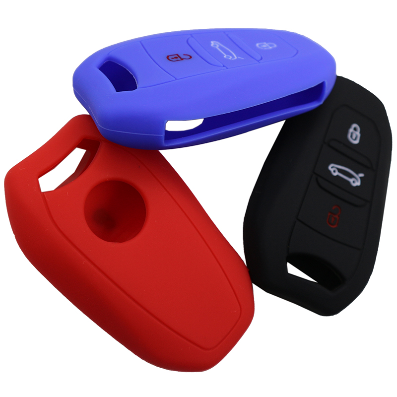 3 Buttons silicone car <font><b>key</b></font> cover <font><b>case</b></font> <font><b>key</b></font> fob shell for <font><b>Peugeot</b></font> 208 308 508 <font><b>3008</b></font> 5008 for Citroen C4 Picasso DS3 DS4 DS5 DS6 image