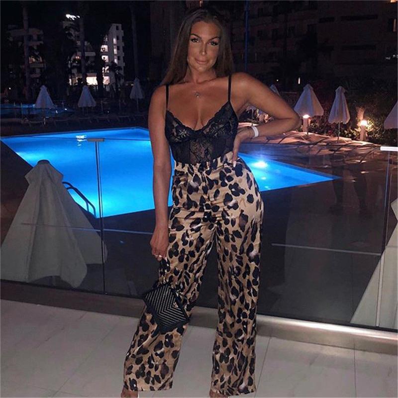 Fashion Leopard Print Women Pants Summer Loose High Waist Long Pants Trousers Female Ladies Casual Streetwears Cargo Pants Hot