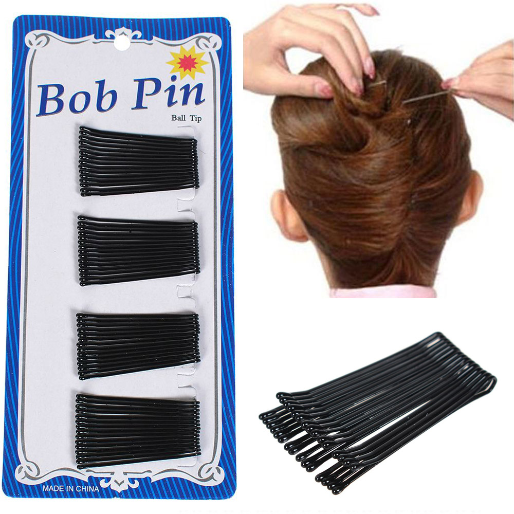 60Pcs/Set Black Hairpins For Women Hair Clip Lady Bobby Pins Invisible Curly Wave Hairgrip Barrette Hair Clips Accessories