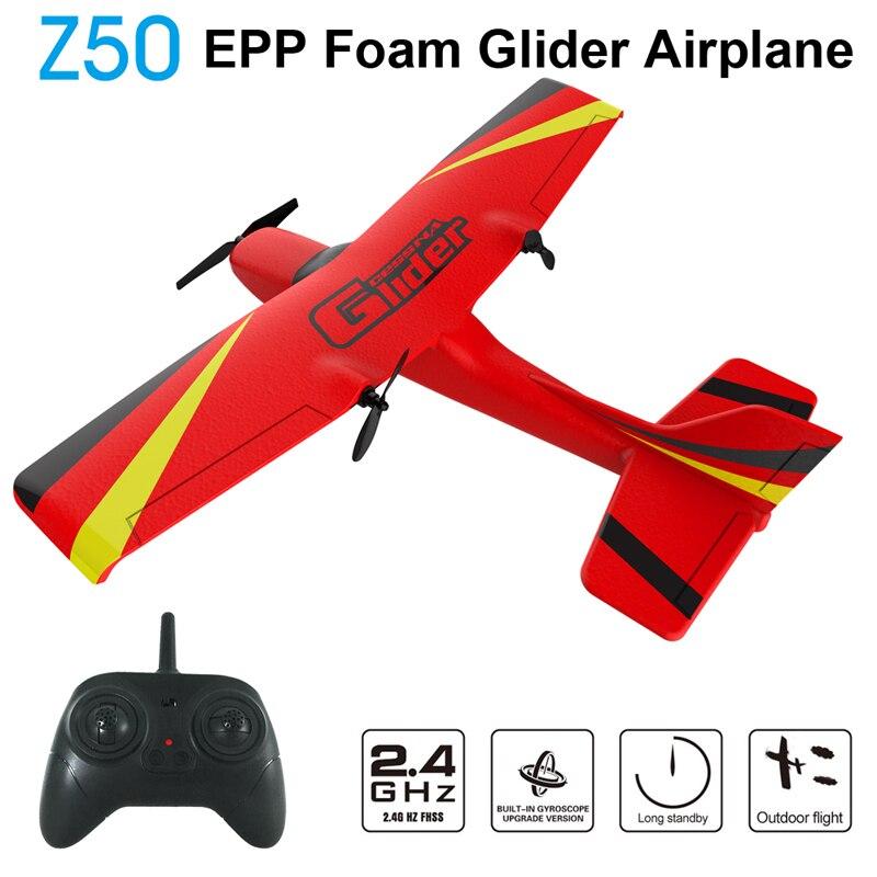 Z50 RC avion EPP mousse planeur avion gyroscope 2.4G 2CH télécommande envergure 25 minutes temps de vol RC avions jouet 1