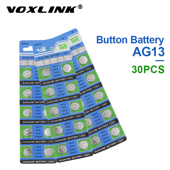 VOXLINK 30Pcs AG13 original brand new battery 1.55v button cell LR44/357 for Camera watch computer toy remote control battery цена 2017