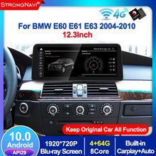 4 + 64G Android 10 4G Lte coche reproductor Multimedia para BMW serie 5 E60 E61 E63 E64 E90 E91 E92 CCC CIC apoyo IDrive Radio GPS WIFI
