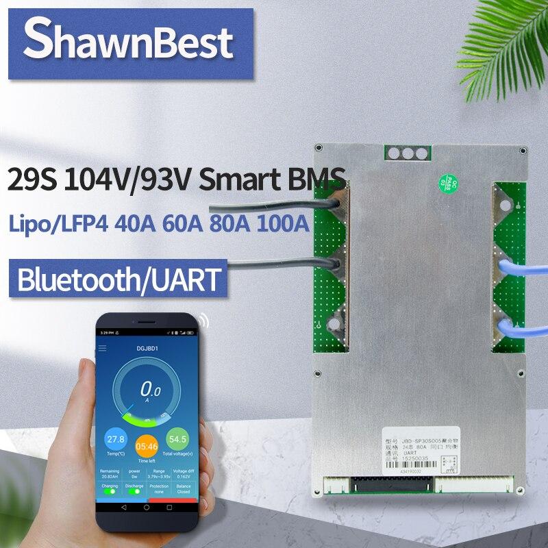 Moduł bms litowo-jonowy 29s 104v 40a 60a 80a 100a inteligentny bilans bluetooth UART komunikacja port szeregowy App PCM