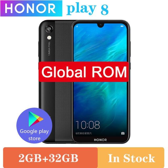 الأصلي HONOR 8 play HONOR Play 8 MT6761 2GB 32GB رباعية النواة Y5 2019 الهاتف المحمول 5.71 IPS شاشة كاملة أندرويد 9.0 الهاتف المحمول
