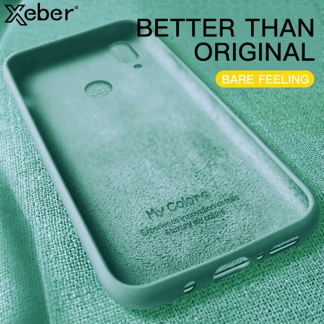 Soft Liquid Silicone Case For Xiaomi Mi 9 SE 8 Lite Slim Cases On Redmi Note 5 6 7 8 Pro 8T 7A 8A Redmi K20 Pro K30 Phone Cover