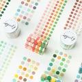 1250 шт./рулон круг наклейки Карамельный цвет точка наклейки из бумаги васи круглых наклеек в горошек записи лента Washi