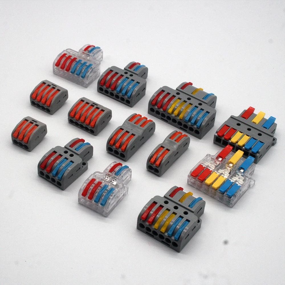 Mini conectores de cabo de fio rápido condutor compacto universal mola de emenda conector de fiação push-in bloco de terminais TL-622/633 l