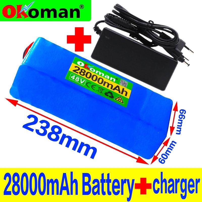 48В батарея 28ah 13s3p Высокая мощность 18650 Электрический мотоцикл батарея электрическая DIY батарея BMS защита bateria 48В + зарядное устройство