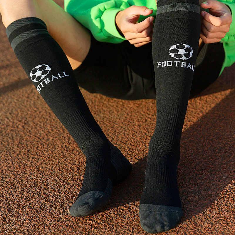 Homem profissional meias de futebol esporte respirável meias anti deslizamento longa meia trusox ao ar livre feminino elástico meias de náilon