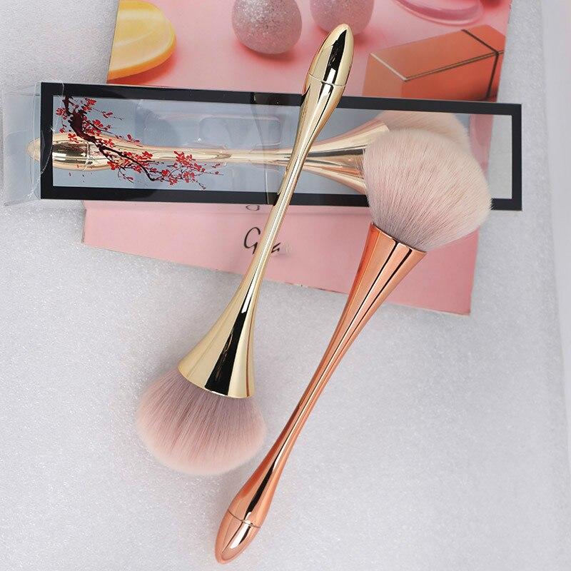 Большая розовая Золотая кисть для пудры, румян, Профессиональная Кисть для макияжа, набор инструментов, косметический очень мягкий большой размер, макияж для лица|Аппликатор теней для век|   | АлиЭкспресс