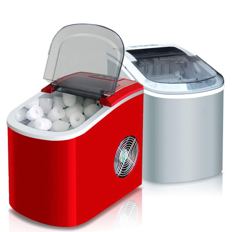 Mini Automatic Electric Ice Maker Portable Bullet Round Block Ice Cube Making Machine Small Bar Coffee Shop 15kgs/24H EU|Ice Crushers & Shavers| |  - title=