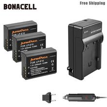 Bonacell 2200mAh LP-E10 LP E10 LPE10 Camera Battery+Charger For Canon 1100D 1200D 1300D Rebel T3 T5 KISS X50 X70 Battery L50