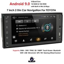 7'' 2 din Andriod Car radio GPS Navi Quad Core Car Multimedia Player For Toyota RAV4 Prado Corolla Vios Hilux Terios Mirror Link(China)