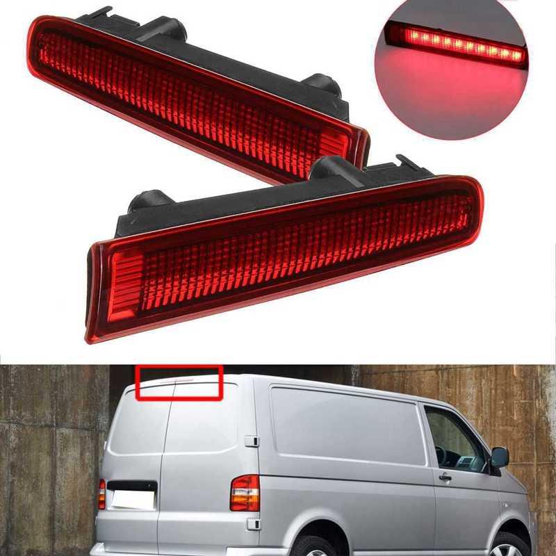 2Pcs Car Third High Brake Light Barn Door Rear Brake Light High Mount Stop Lamp For-V w T5 T6 For Multivan Caravelle 2003-2016