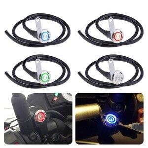 Image 1 - 12V motosiklet lambası anahtarı LED gidon far sis lambası On/Off anahtarı 3 tel LED düğme ATV Scooter için dörtlü motosiklet