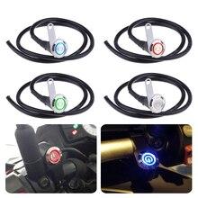 Interruptor de luz LED para manillar de motocicleta, 12V, interruptor de encendido/apagado, 3 cables de empuje con botón LED para ATV, Scooter, Quad