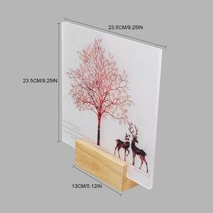 Image 3 - Artpad 現代ロマンチックな無地染め燭台屋内壁 Led アクリル壁壁ランプリビングルームベッドサイドマット暖かい光