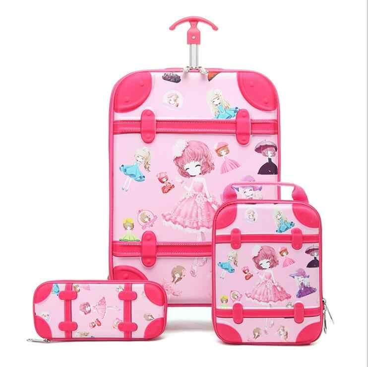 Unicorn Rolling Backpack for Girls Kids Backpacks with wheels Wheeled Trolley Travel Trip Luggage School Bag