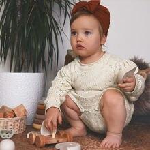 Вязаный для новорожденных комбинезон в винтажном стиле; Одежда