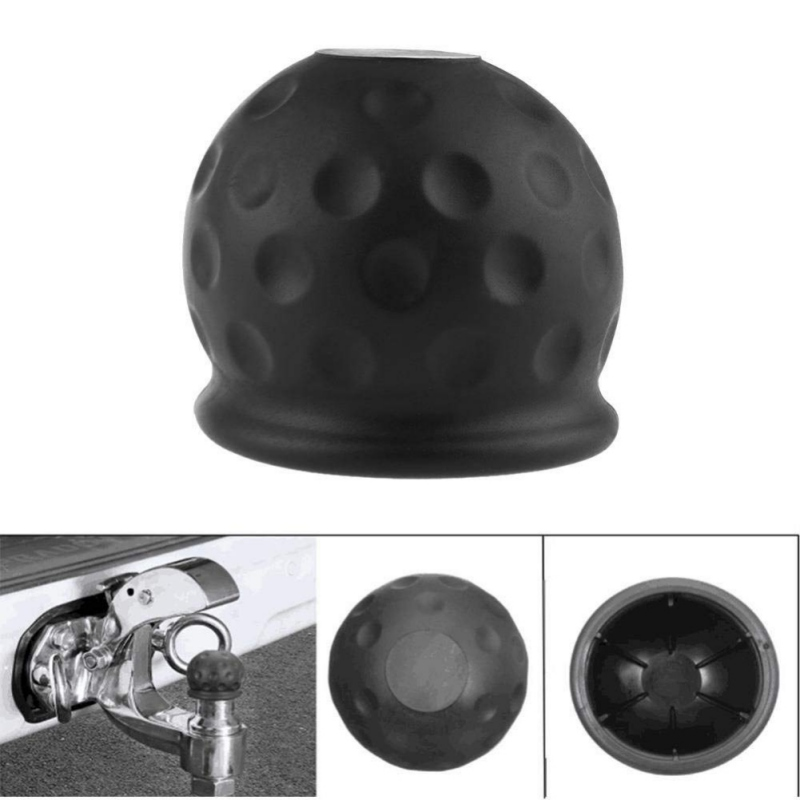 2019 Universal 50mm Tow Bar Ball Cover Cap Towing Hitch Caravan Protect Trailer title=