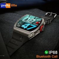 TK1-8 1.4 pollici Smart Watch uomo Bluetooth chiamata IP68 impermeabile Smartwatch donna cardiofrequenzimetro Monitor Fitness Tracker