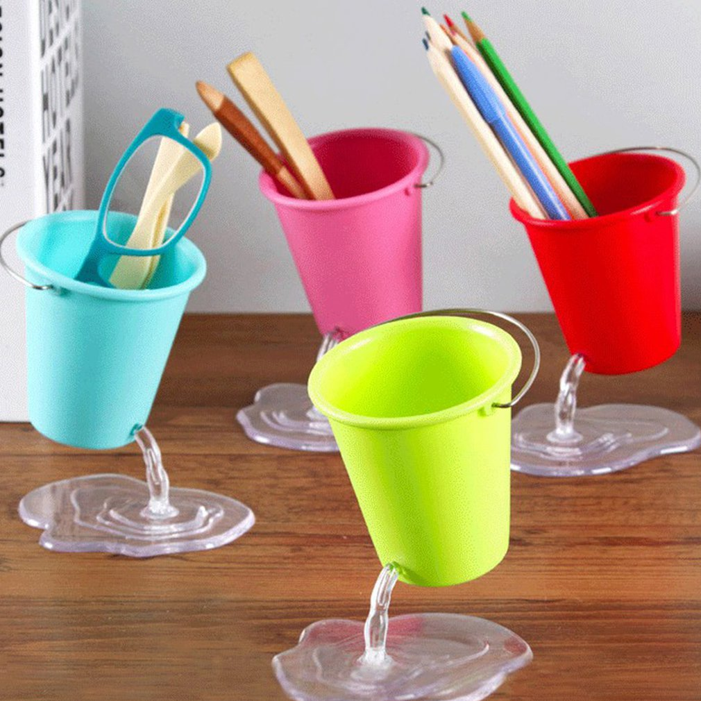 Creative Mini Suspension Pen Holder Bucket Type Pen Holder Desktop Stationery Storage Tube For Students