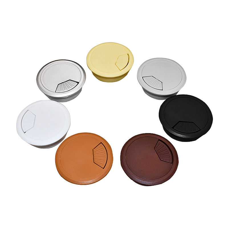 2pcs 50mm ABS Cable Hole Covers Base Round Table Cable Outlet Computer Desk Grommet Wire Protection Organizer Furniture Hardware