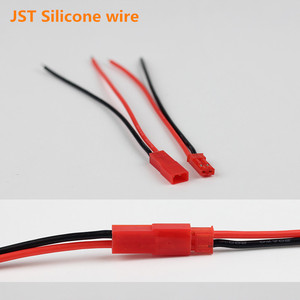 10 pair JST Connector Pigtail Male Female BEC Plug Silicone Cable Wire 200 degree for RC Lipo Battery 20AWG Wire