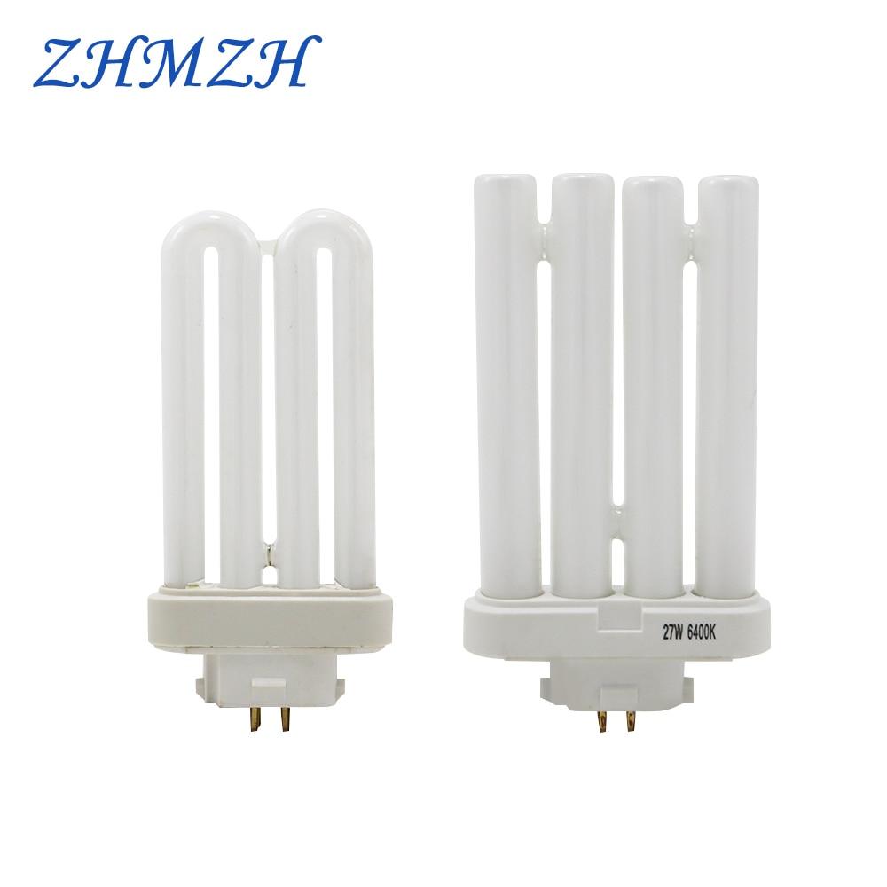 AC220V-240V Four Needles Fluorescent Light Tubes 15W 27W Square Four Pins Eye-protection Lamp Tubes 6500K Energy Saving Lamp