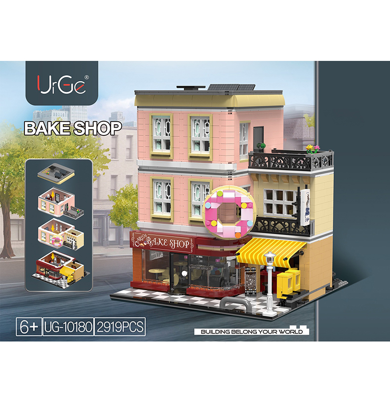 Creator Legoing Street View Architecture Cafe Model Compatible Moc Legoings City House Building Blocks Child Toys Birthday Gifts