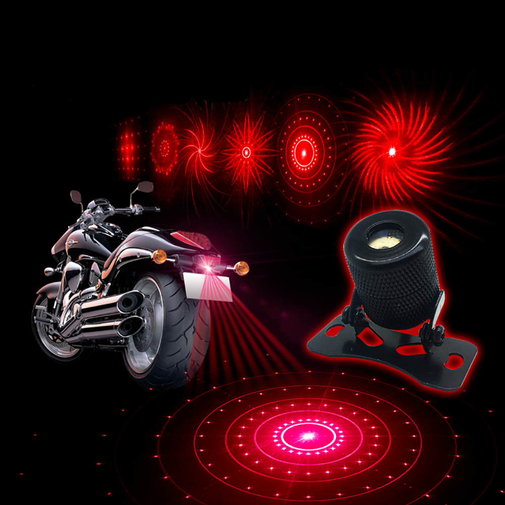 YOSOLO Motorcycle Car External Fog Lamp 6 Pattern Change  Anti-Collision Laser Warning Light Decoration Lamp Car Styling