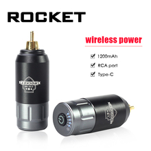 New Rechargeable Wireless Rocket Tattoo Battery Power RCA Connector For Machine Pen Supply