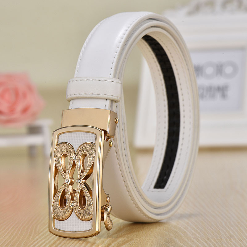 Automatic Buckle Designer Belt For Women Quality Ladies Luxury Brand Women's Belt Fashion Genuine Leather Female Belt For Dress
