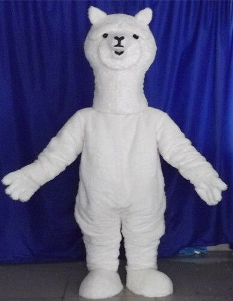 Halloween Alpaca Mascot Costume Suit Advertising Cosplay Party Game Adult Outfit Birthday Cartoon Character Mascot Costume Gift