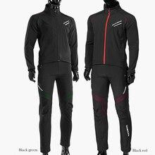 Rockbros Fietsen Fiets Fiets Lange Mouwen Jas Broek Sets Winter Thermische Fleece Jersey Winddicht Reflecterende Sportkleding Kleding