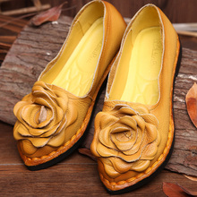 Vintage Women Shoes Handmade Genuine Leather Shoes