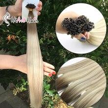 HiArt, 1 г/шт., волосы для наращивания на плоских кончиках, волосы для наращивания remy, бразильские волосы для наращивания, человеческие волосы для наращивания с двойным нарисованным кератином, 18 дюймов, 20 дюймов, 22 дюйма