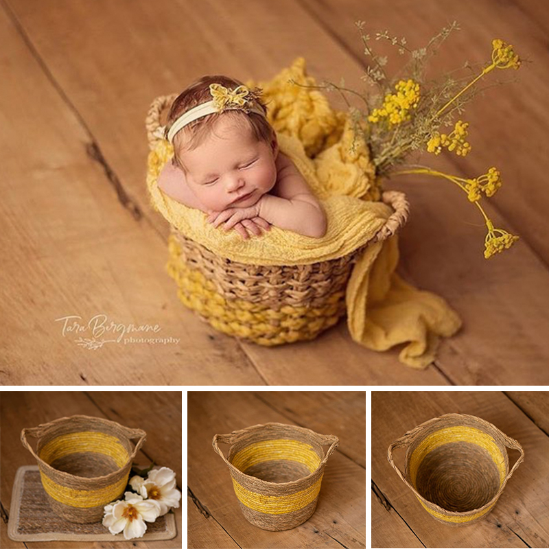 Newborn Photo Shooting Basket Children Baby Full Moon Photography Woven Baskets Hot