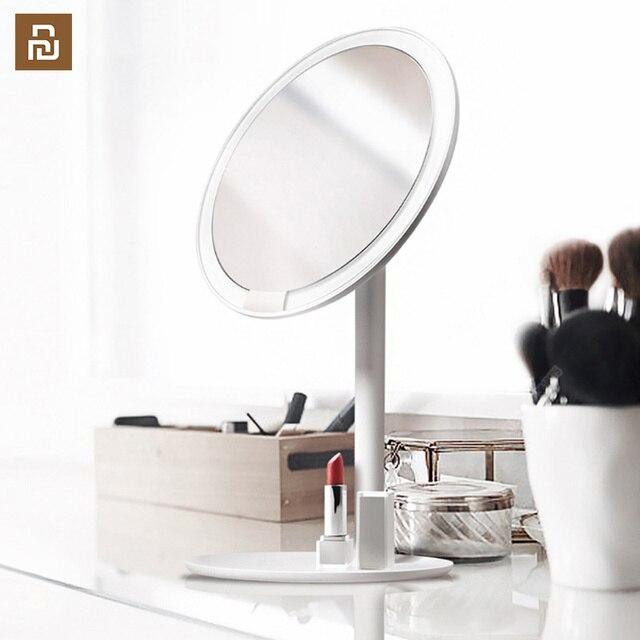 Amiro hd espelho regulável bancada ajustável 60 graus de rotação 2000 mah luz do dia maquiagem cosméticos led espelho lâmpada