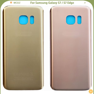 Image 4 - 10 PCS OEM S7 Battery Cover For Samsung Galaxy S7 G930F / S7 Edge G935F Back Cover Door Rear Cover Glass Housing Case