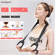 USB Cervical Neck Massager  Charging Portable Kneading Physical Multi-functional